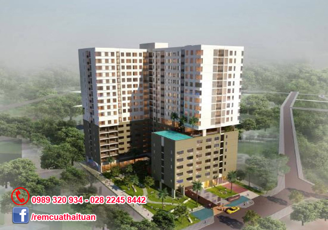 Lắp rèm cửa chung cư cao cấp Orchard Garden quận Phú Nhuận