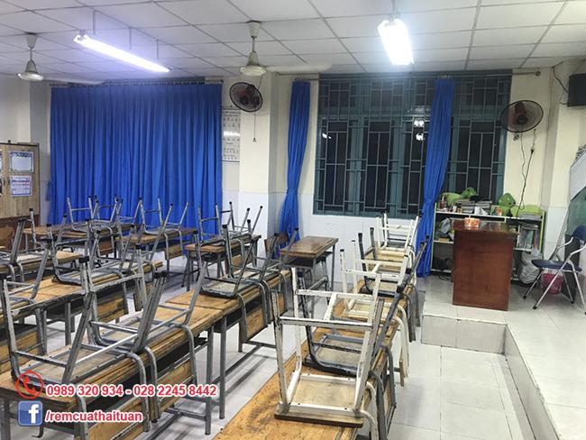 Thay màn cửa trường tiểu học Duy Tân quận Tân Phú